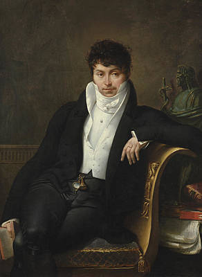 Portrait Of Pierre-jean-george Cabanis Art Print by Merry-Joseph Blondel