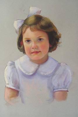 Portrait Of Polly Art Print by Melanie Miller Longshore
