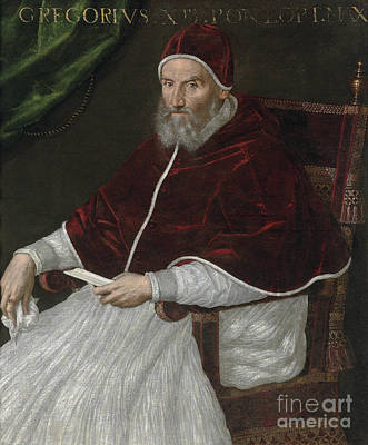 Painting - Portrait Of Pope Gregory Xiii by Lavinia Fontana