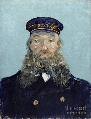Post-impressionist Photograph - Portrait Of Postman Roulin by Vincent van Gogh