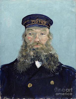 Oil Portrait Photograph - Portrait Of Postman Roulin by Vincent van Gogh