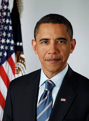 Obama Painting - portrait of President Barack Obama by MotionAge Designs