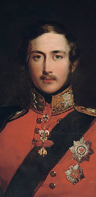 Regalia Painting - Portrait Of Prince Albert by John Lucas