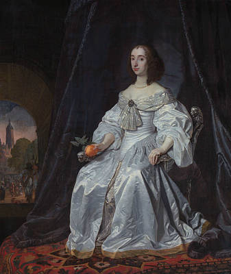 Painting - Portrait Of Princess Royal Mary Stuart by Bartholomeus van der Helst