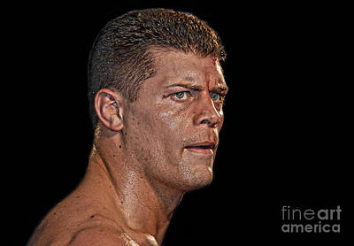 Photograph - Portrait Of Pro Wrestler Cody Rhodes by Jim Fitzpatrick