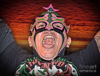 Photograph - Portrait Of Pro Wrestler Juventud Guerrera Youth Warrior by Jim Fitzpatrick
