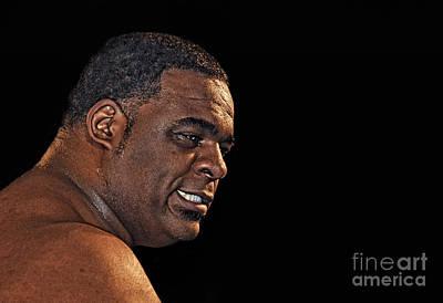 Profile Photograph - Portrait Of Pro Wrestler Keith Lee by Jim Fitzpatrick