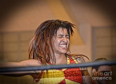 Photograph - Portrait Of Pro Wrestler Nicole Savoy  by Jim Fitzpatrick