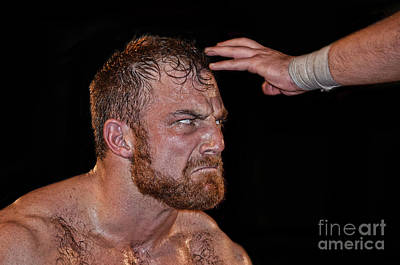 Photograph - Portrait Of Pro Wrestler Timothy Thatcher IIi by Jim Fitzpatrick