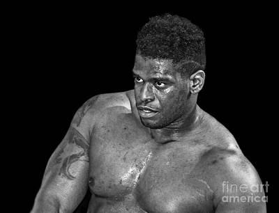 Photograph - Portrait Of Pro Wrestler Will Hobbs II by Jim Fitzpatrick