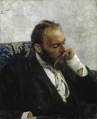 Sitting Painting - Portrait Of Professor Ivanov by Ilya Repin