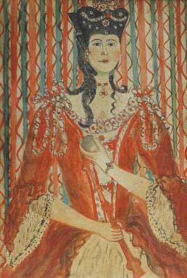 Portrait Of Queen Charlotte Art Print by MotionAge Designs