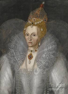 Marcus Painting - Portrait Of Queen Elizabeth by MotionAge Designs