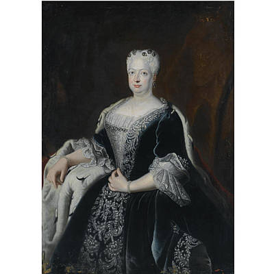 1757 Painting - Portrait Of Queen Sophie Dorothea Of Prussia by MotionAge Designs