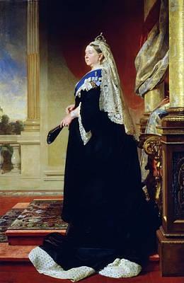 Painting - Portrait Of Queen Victoria As A Widow by Henrich Von Angeli