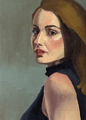 Painting - Portrait Of Rachel Christine by Stephen Panoushek
