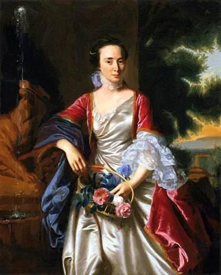 Painting - Portrait Of Rebecca Boylston 1767 by Copley John Singleton