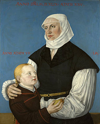 Painting - Portrait Of Regula Gwalther-zwingli And Anna Gwalther by Hans Asper