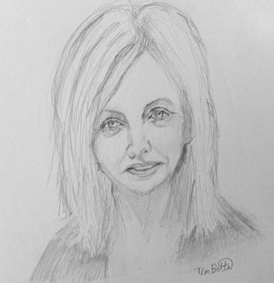 The Power Of Owning Drawing - Portrait Of Rhonda Byrne by Tim Botta