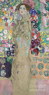 Bright Colors Painting - Portrait Of Ria Munk IIi by Gustav Klimt