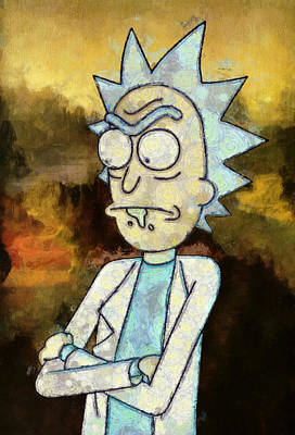 Rick Wall Art - Painting - Portrait Of Rick by Rick And Morty