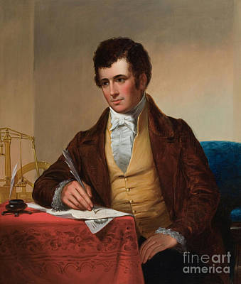 Engraving Painting - Portrait Of Robert Fulton by MotionAge Designs