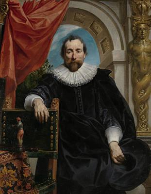 Ruff Painting - Portrait Of Rogier Le Witer by Jacob Jordaens