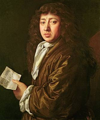 Neck Painting - Portrait Of Samuel Pepys by John Hayls