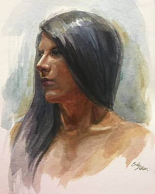 Painting - Portrait Of Sara by Emily Olson