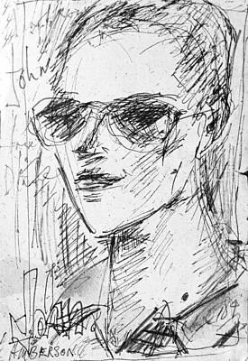 Portrait Of Self Art Print by John Toxey