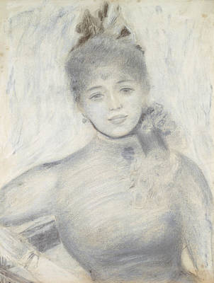 Drawing - Portrait Of Severine by Auguste Renoir