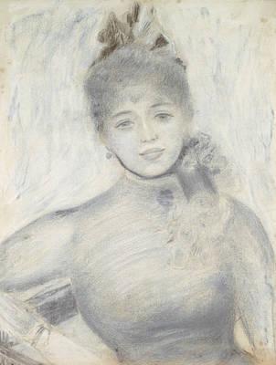 Impressionism Drawing - Portrait Of Severine by Auguste Renoir