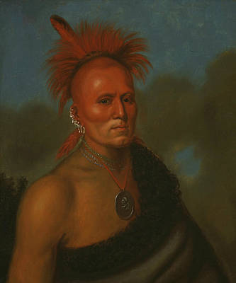 Painting - Portrait Of Shar-i-tar-ish by Henry Inman