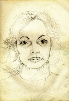 Tantra Drawing - Portrait Of Sherley Leonard by Stephen Carver