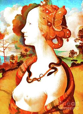 Simonetta Vespucci Painting - Portrait Of Simonetta Vespucci by D Fessenden