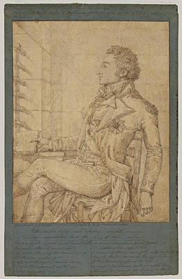 Drawing - Portrait Of Sir Sidney Smith In The Temple Prison by Philippe-Auguste Hennequin