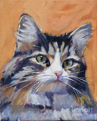 Portrait Of Squeaky Art Print by Deb Putnam