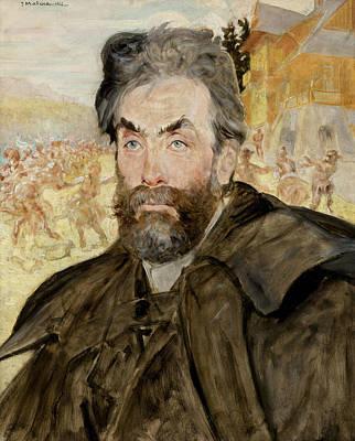 Painting - Portrait Of Stanislaw Witkiewicz by Jacek Malczewski