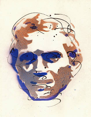Steve Mcqueen Art Painting - Portrait Of Steve Mcqueen by Ryan  Hopkins