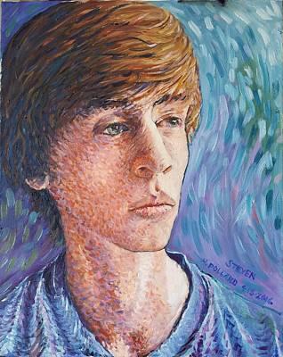 Painting - Portrait Of Steven by Herschel Pollard