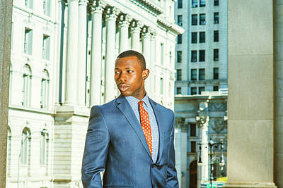 Photograph - Portrait Of Successful African American Businessman In New York by Alexander Image