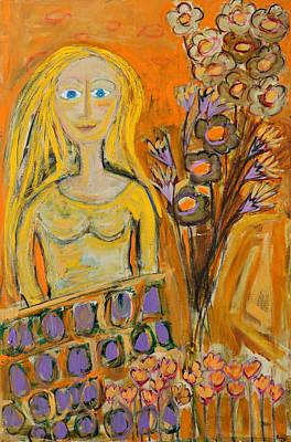 Portrait Of Sunshine Girl Art Print by Maggis Art