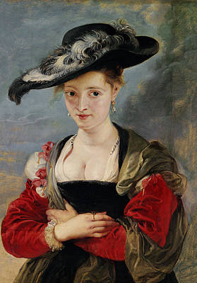 Portrait Of Susanna Lunden Art Print by Peter Paul Rubens