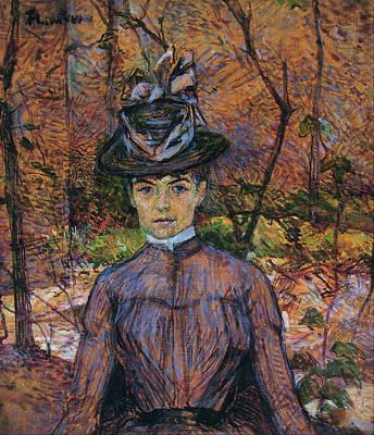 Vegetation Painting - Portrait Of Suzanne Valadon by Henri de Toulouse-Lautrec