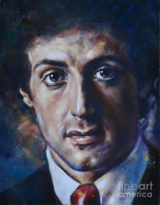 Painting - Portrait Of Sylvester Stallone by Ritchard Rodriguez