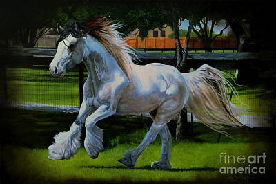 Tri Color Horse Painting - Portrait Of Tanner by Ruanna Sion Shadd a'Dann'l Yoder