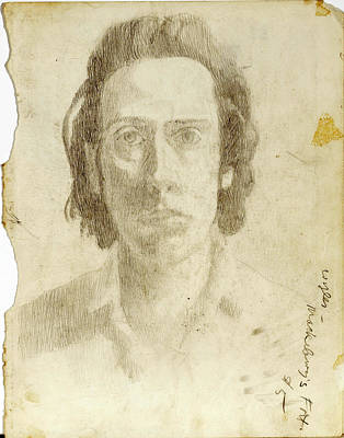 Lincoln Memorial Drawing - Portrait Of The Artist As A Young Man by John Grazier