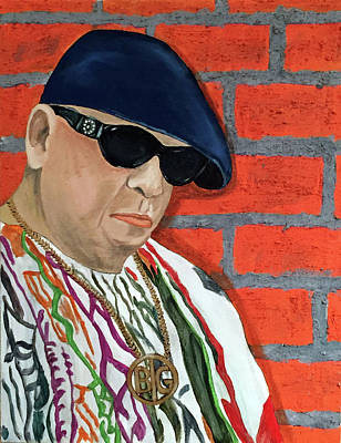 Painting - Portrait Of The Artist As Biggie Smalls by Kevin Callahan