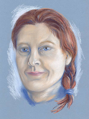 Pastel - Portrait Of The Artist At 51 by MM Anderson