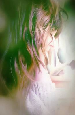 Photograph - Portrait Of The Artist - Lost In Thought by Isabella F Abbie Shores